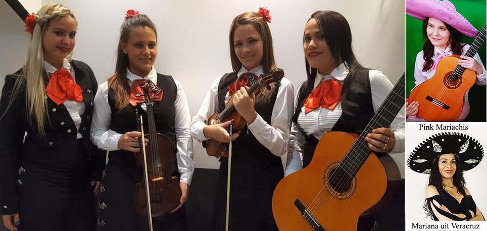 Band gekleed in Charro kleding